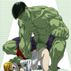 Power Girl and Hulk - Sabu